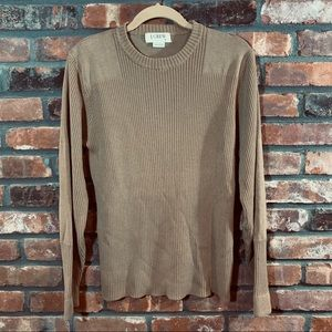 J. Crew Ribbed Thin Knit Cotton Sweater
